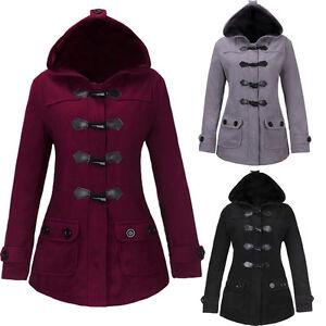 Women's Warm Winter Overcoat Long Jacket Cotton Coat Hooded Parka ...