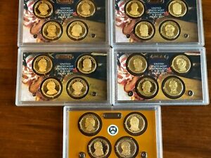 2007-2011 Presidential Dollar Gem Proof OGP sets Set of 20