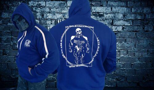 Body Building con cappuccio Bestia Modalità Palestra Muscoli sussultano WOW look di alta qualità UK veloce