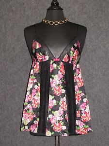 cac0860f4b0 Image is loading VICTORIA-S-SECRET-Lingerie-Teddy-Babydoll-Floral-Pattern-