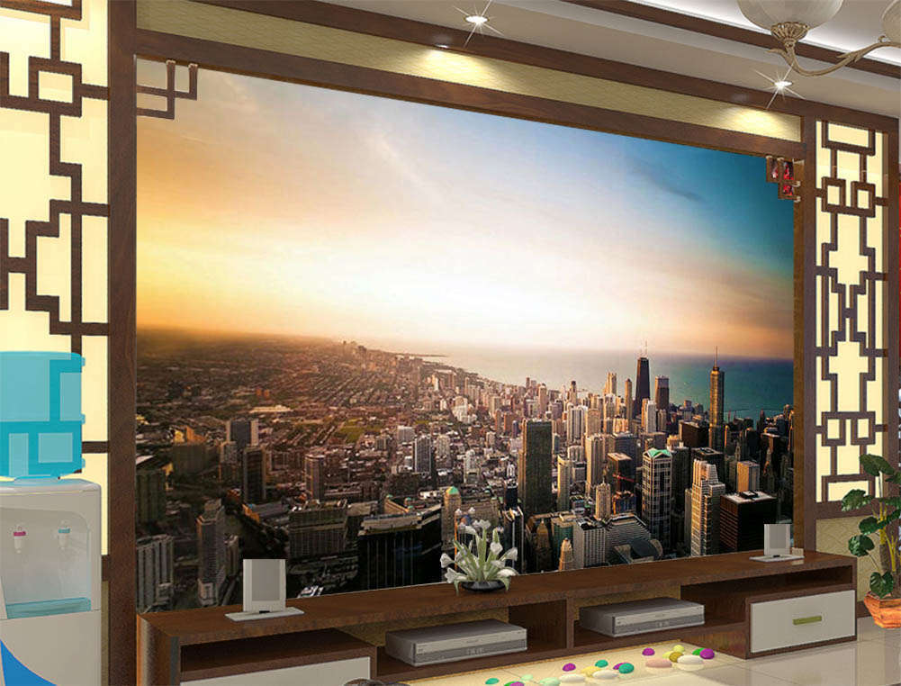 Building Have Sprung Up 3D Full Wall Mural Photo Wallpaper Print Home Kids Decor