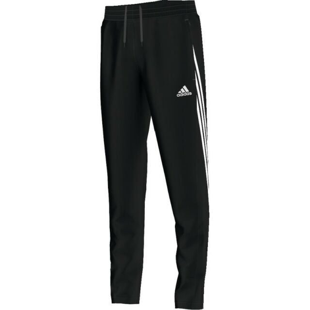 6b69107c adidas Football Youth Soccer Sereno 14 Training Pants Boys Climalite Black  White 152