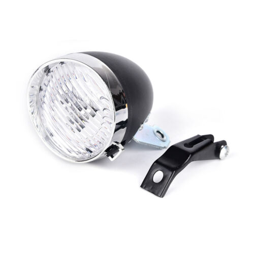 1X Retro Bicycle Bike 3 LED Front Light Headlight Vintage Flashlight Lamp GH ZN