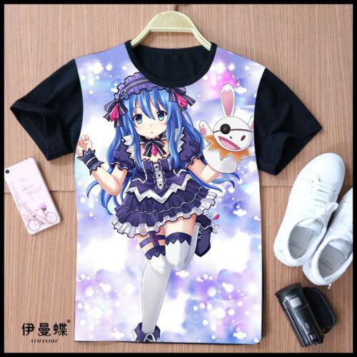 Cosplay DATE A LIVE Hermit Yoshino Anime T-Shirt Kostüme Polyester Schwarz Neu