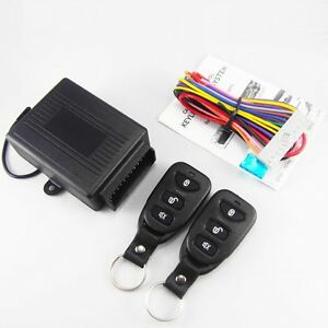 Auto-Car-Remote-Control-Central-Kit-Door-Lock-Locking-Keyless-Entry-System-amp-key