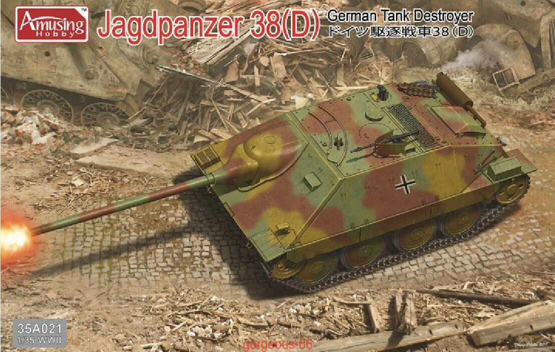 Amusing Hobby 1 35 35A021 German Tank Destroyer Jagdpanzer 38(D)