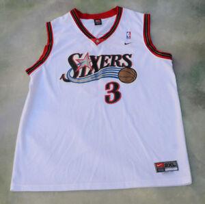 089c77da474 Vintage Nike NBA Philadelphia 76ers Allen Iverson  3 Jersey Size 2XL ...