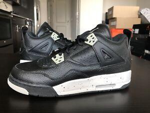 5628b69ce1a999 DS Nike Air Jordan 4 IV Retro BG GS Oreo Black Grey Youth Boys ...