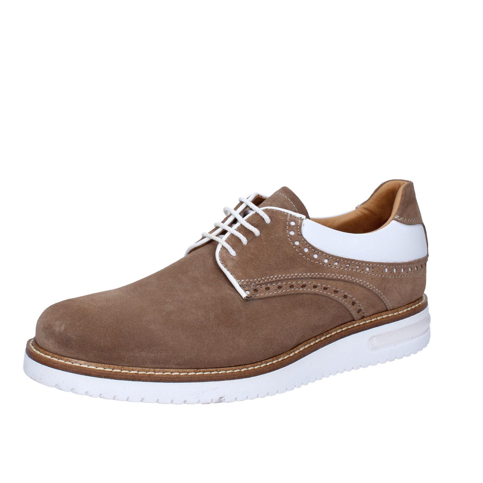 Men's shoes FDF SHOES 9 (EU 42) elegant brown suede leather BZ356-C