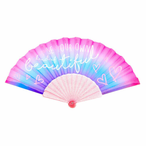 Pink Pink//Purple Claire/'s Be Your Own Kind of Beautiful Ombre Folding Fan