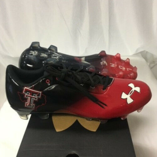 NEW Mens Under Armour Blur Football Cleats Texas Tech Black//Red-Pick Size