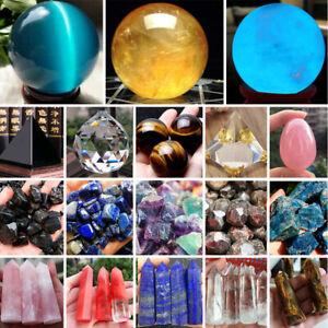 Lot-Natural-Quartz-Magic-Gemstone-Sphere-Crystal-Reiki-Healing-Ball-Stone-Craft