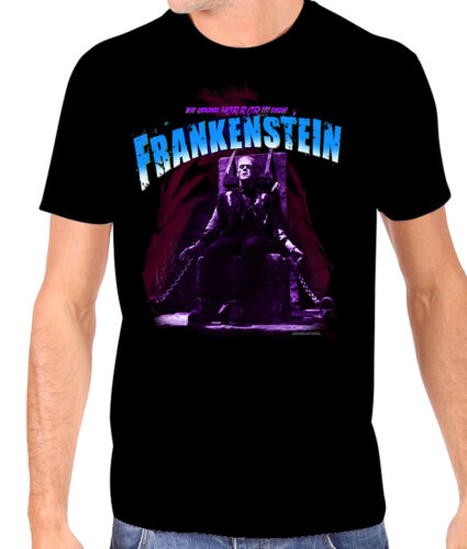 Authentic universel Bleu Chaise électrique Frankenstein T-Shirt S-2XL Neuf