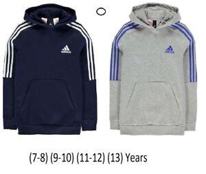 Nouveau-Adidas-Junior-Boys-Kids-Hoody-Logo-3-S-OTH-a-capuche-Haut-a-Capuche-SM-MB-LB-Excel