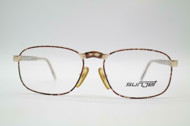 Vintage Carrera 5294 41 Gold Multi-Coloured Oval Eyeglasses Glasses Frame NOS-show original title