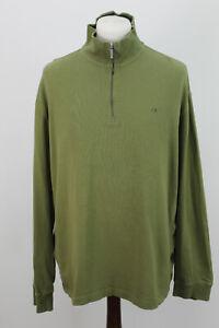 Calvin Klein Olive 1/4 Reißverschluss Pullover Pullover Größe XXL