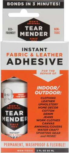 Tear Mender Instant Fabric /& Leather Adhesive Packaged 2oz 742836002055