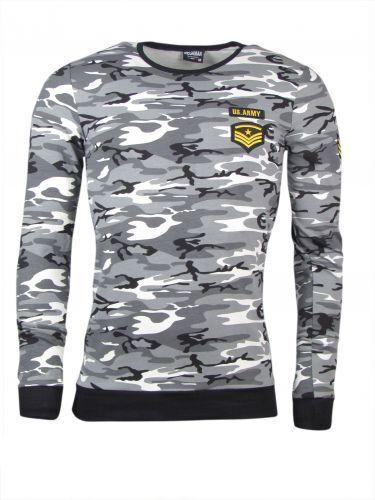 Longsleeve camouflage grau Army Style