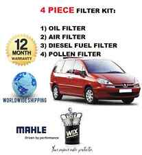 FOR PEUGEOT 807 2.2HDi 11/2002-9/2007 NEW OIL AIR FUEL POLLEN FILTER SERVICE KIT