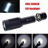 Flash Sale 4000LM Zoomable Cree XML T6 LED 5 Modes Police Flashlight Lamp Torch