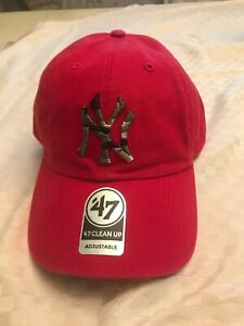 low priced bdc52 5cbb1 Image is loading New-York-Yankees-NY-47-Brand-MLB-Strapback-