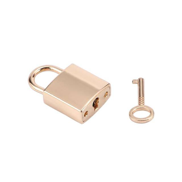 Gold Color Cute Small Mini Archaize Metal Padlocks Key Lock For Diary Book