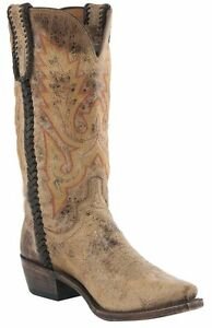Lucchese M2612 54 Mens Tan Road Distressed Calf Leather Western ...