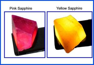 Gift Sales Pink & Yellow Sapphire 800 Ct/2 Pcs Natural Gemstone Polished Rough