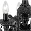 Funkelnder Kronleuchter 5-Armig Chrom Lüster Wohnzimmer Lampe Leuchte LED