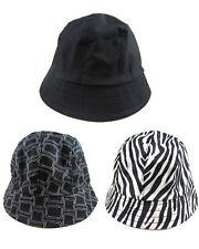 333b1963148 3pk Totes Lightweight Womens Bucket Rain Sun Hats Black Zebra ...