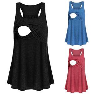 025da5721c979 Image is loading Women-Maternity-Clothes-Breastfeeding-Tank-Tops-Nursing- Sleeveless-
