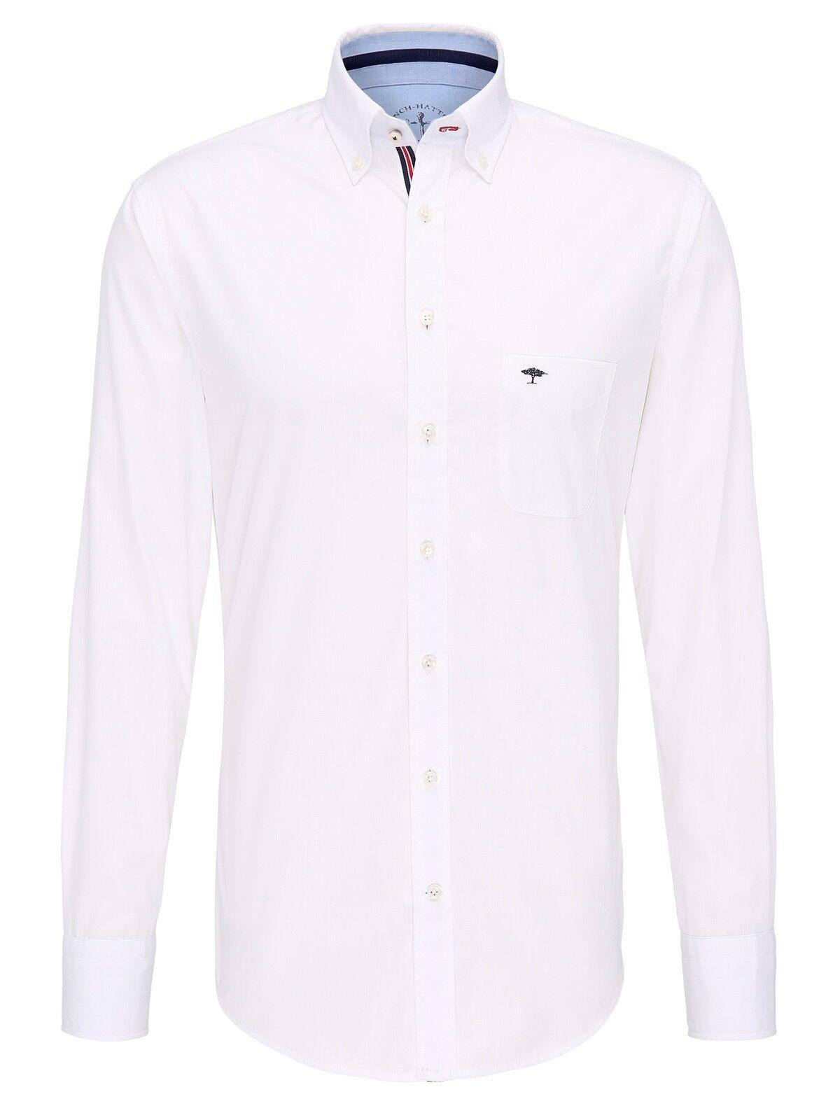 FYNCH HATTON® Maritime Twill Shirt Weiß - 2XL  | Kostengünstiger
