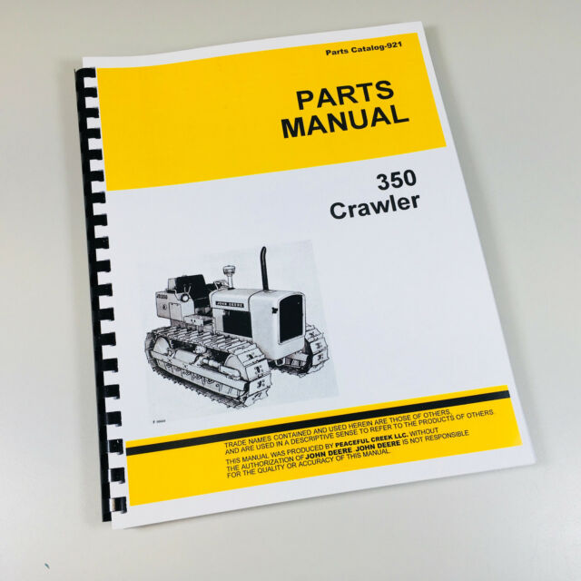 John Deere 350 Crawler Tractor Parts Manual Catalog Exploded Views For Assembly