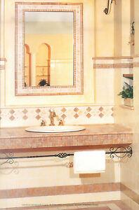 Piastrelle pavimento rivestimento bagno cucina beige marrone 10x10 ...