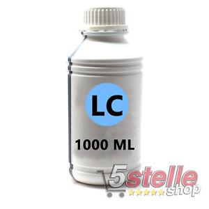 RICARICA-INCHIOSTRO-LIGHT-CIANO-1-LITRO-CARTUCCE-HP-EPSON-CANON-BROTHER-LEXMARK