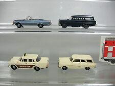 AJ385-0,5# 4x Brekina H0 PKW-Modell: Ford Taunus 17m + Mercedes-Benz MB 190/280