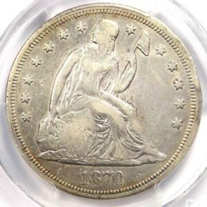 1870-CC-Seated-Liberty-Dollar-1-PCGS-VF-Details-Carson-City-Coin-Looks-XF