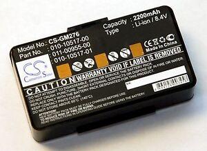 NEW-Battery-Garmin-GPSMAP-276-276C-296-396-496-GPS-2200mAh-8-4v-010-10517-00-map