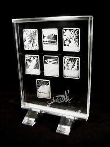 Die 7 Schöpfungs-tage Ungleiche Leistung Salvador Dali 999 Silber 7.medaillen In Acrylglasbox