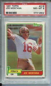1981-Topps-Football-216-Joe-Montana-49ers-Rookie-Card-RC-Graded-PSA-NM-Mint-8