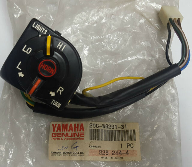 Genuine Yamaha Jog CY50 Lever Holder Assembly 20G-W8291-31 Left Switch 1989-01