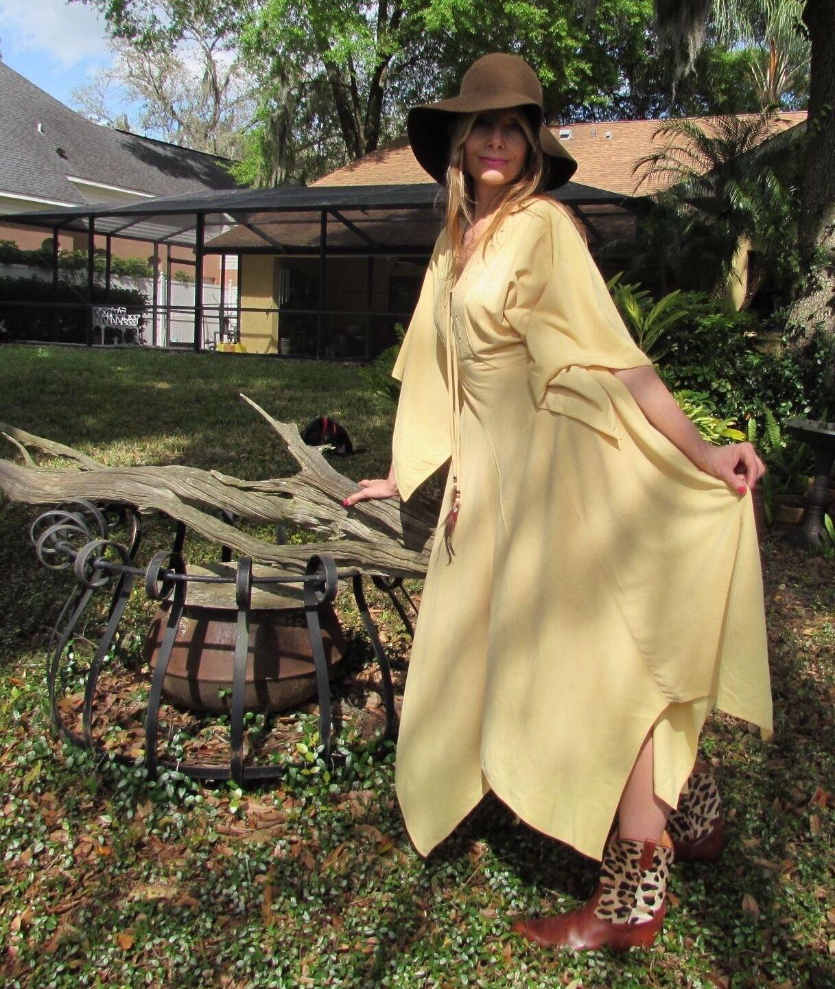 Vintage 70's Epic Boho Goddess Hippie Festival Gypsy SEXY Dress Medium