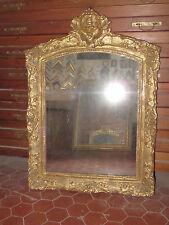 Miroir époque 17ème, Louis XIV En Bois Doré.