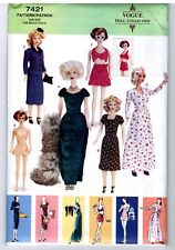 "Vogue 7421 Barbie 11 1/2"" Doll circa 1950s 60s Pattern / Vintage 2001 New Uncut"