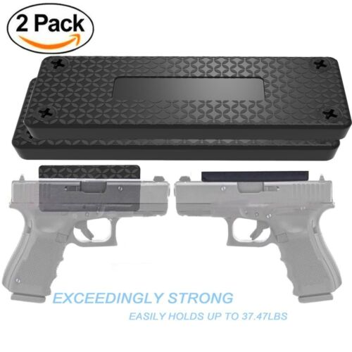 1//2//4 Pack Magnetic Gun Mount /& Holster Rubber Coated Concealed Tactical Firearm