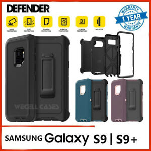 size 40 3668a 9f0e9 Details about Galaxy S9 Plus Case | Screen Protector Belt Clip Fits  Otterbox Defender Series