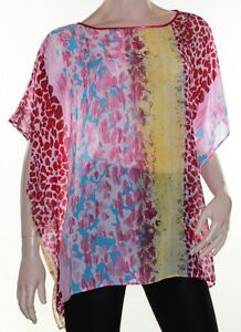 Kaftan-Top-Caftan-Blouse-Batwing-Plus-Size-8-24-Women-Sheer-Colourful-Cover-Up