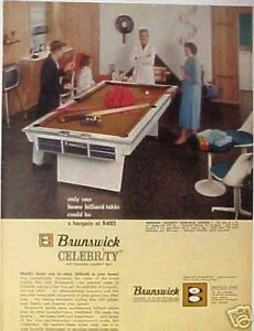 Sears Pool Table Jimmy Caras Pocket Billiard Champ AD EBay - Sears billiard table sale