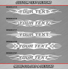Fits CHEVY CRUZE Custom Windshield Tribal Flame Vinyl Graphic Decal Sticker Text