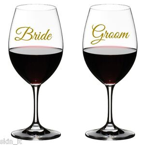 Details about BRIDE GROOM, HIS HERS MR MRS Wedding Stickers GLASSES VINYL  DECAL TRANSFER